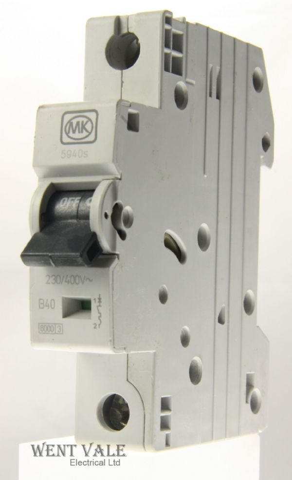 MK Sentry - 5940s - 40a Type B Single Pole MCB Used